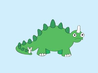 Reptile. Beautiful a small green dinosaur.