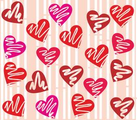 Seamless valentine day heart background.