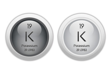 Potassium - two glossy web buttons