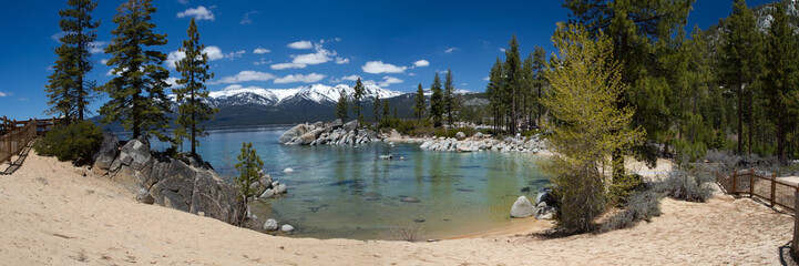 Wall Mural - panorama of Sand Harbor beach, Lake Tahoe