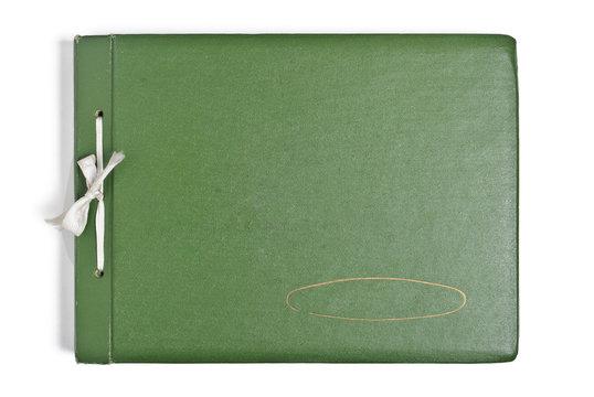 Retro green album isolated on white