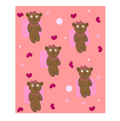 In de dag Beren teddy bear background vector