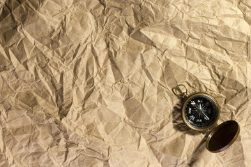 Brown Paper with a Compass