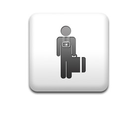 Boton cuadrado blanco turista