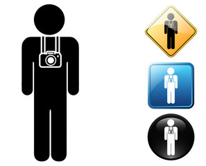 Photographer pictogram and signs