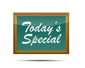 Icono 3d pizarra escolar texto TODAY'S SPECIAL