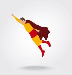 Super héros qui s'envole