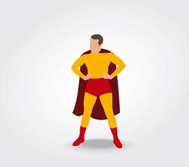 Super héros les mains sur les hanches