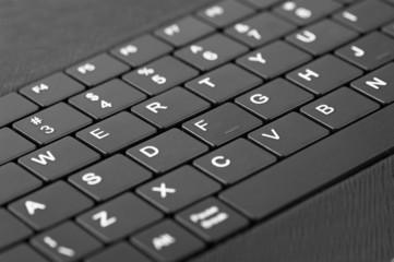 Technology background: Macro of laptop keyboard