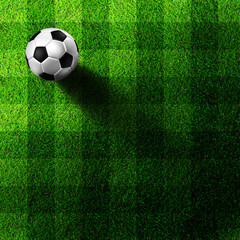 soccer football on grass field