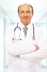 senior handsome man doctor