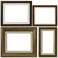 Four antique picture frames