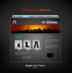 Website color Template modern design
