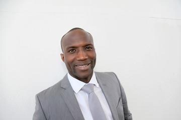Portrait of businessman with grey suit