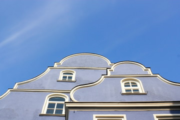 Wall Mural - Memmingen Blaue Hausgiebel