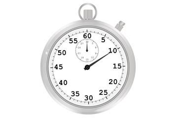 Cronómetro sobre fondo blanco