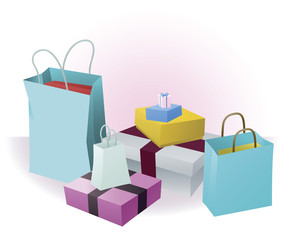 Lots of shopping or gifts