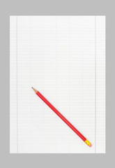 Accounts paper and pencil - isolated