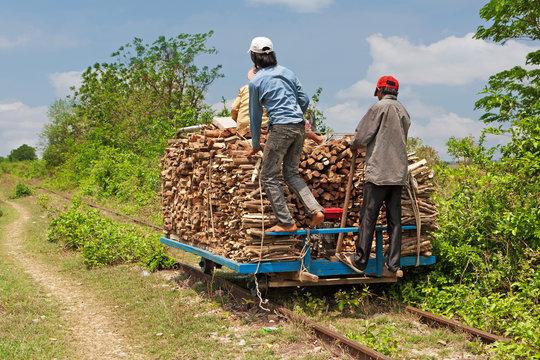 The Bamboo Train in Cambodia
