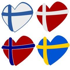 Scandinavian heart shapes