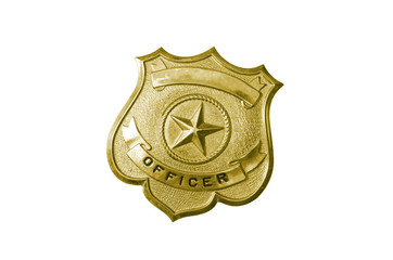 police golden badge