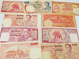 Old Thai Banknotes Collection