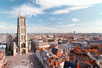Ghent, Belgium from above