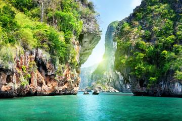 Fotomurales - rocks and sea in Krabi Thsiland
