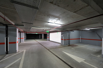 Underground parking exit/entrance