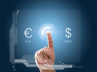 Euro - Dollar - Tausch