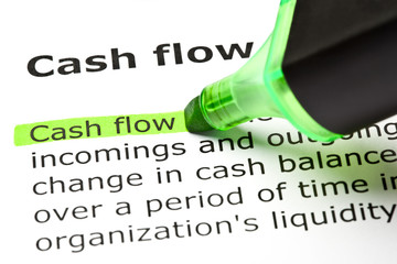 Dictionary definition of the word Cash flow