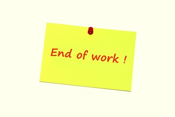 End of work !