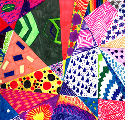 colorful, abstract, children's background