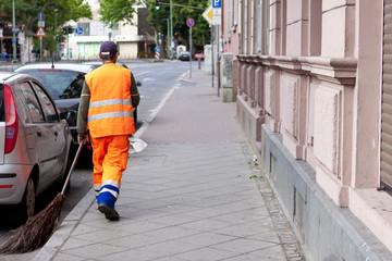 Stadt Reinigung Gehweg