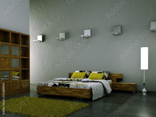schlafzimmer weiss gr n beleuchtet stockfotos und lizenzfreie bilder auf bild. Black Bedroom Furniture Sets. Home Design Ideas