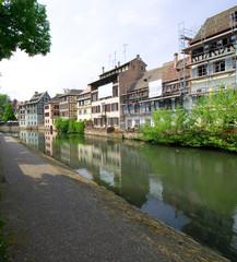 Poster Ville sur l eau Petite France - Straßburg - Elsass - Frankreich