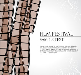 filmstrip vector template