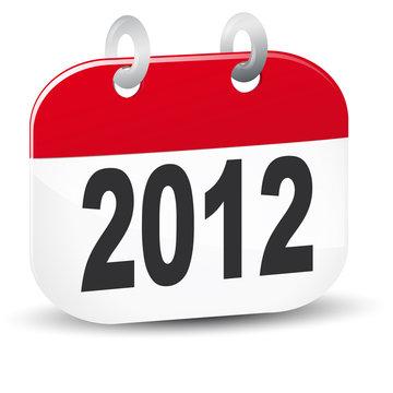 vecteur calendrier 2012
