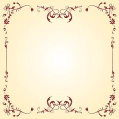vector vintage imperial frame