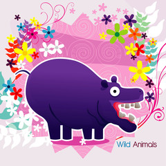 hippo vector illustration