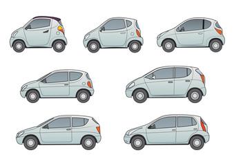 Kleinwagen, Stadtwagen, neutrale- grau