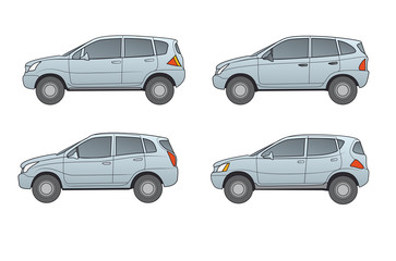 Geländewagen SUV's, neutral, blaugrau