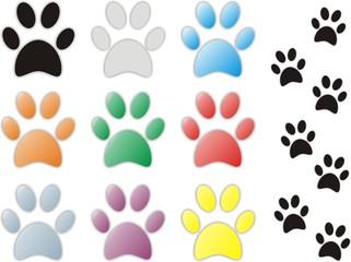 Kolekcja łapy ślady zwierzęta zwierząt