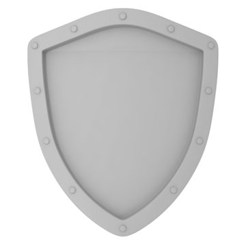 Old Shield isolated on white