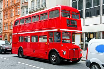 Foto op Aluminium Londen rode bus London bus