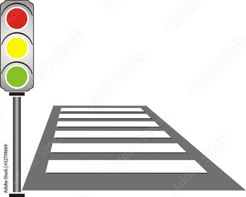 Line Drawing Of Zebra Crossing : Quot traffic light on a pedestrian crossing stock image and