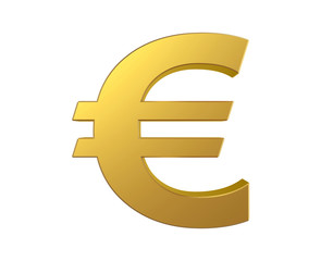 Gold euro sign