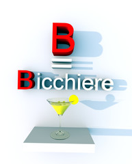 B come bicchiere 2b