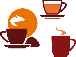 Tea and coffee cups – Vector illustration