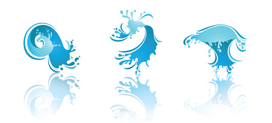 Splashing Waves and Water. Second set icons